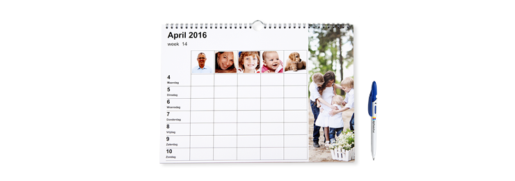 Fonkelnieuw Familiekalender maken large | MyPhotoFun.nl MY-79